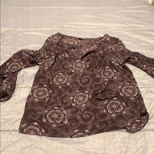 Loft outlet maroon blouse